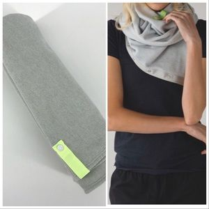 "LULULEMON Heather Gray Vinyasa scarf 24"" x 58"""